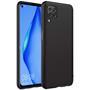 Silikon Hülle für Huawei P40 Lite Schutzhülle Matt Schwarz Backcover Handy Case