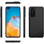 Silikon Hülle für Huawei P40 Schutzhülle Matt Schwarz Backcover Handy Case