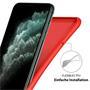 Handy Hülle für Apple iPhone 11 Pro Max Soft Case mit innenliegendem Stoffbezug
