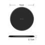 Hoco Wireless QI Charger CW6 Ultra Slim kabelloses Ladegerät Induktion schnelle Aufladung in Schwarz