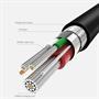 Hoco USB Kabel Flash X20 - 2m Micro USB Ladekabel verstärkte Kabelführung Datenkabel in Schwarz