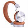 Hoco Kopfhörer W2 Lautsprecher Stereo Headset mit Mikrofone faltbare On-Ear Bügelkopfhörer in Braun